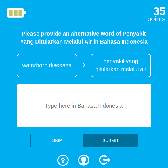 Translator Gator Works Through A Series Of Prompts That Ask The User To Translate Word Or Short Phrase From English Into One Six Indonesian Languages