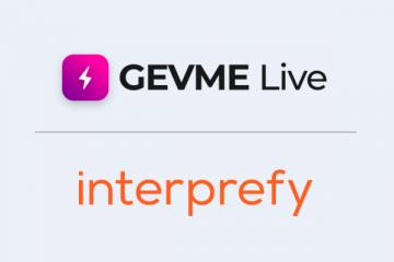GEVME Live Partners with Remote Simultaneous Interpreting Platform Interprefy
