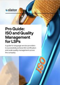 针对翻译公司和本地化提供商的ISO和质量管理