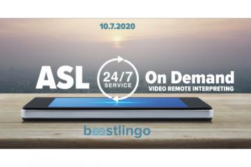 Boostlingo Launches American Sign Language (ASL) 24/7 Service