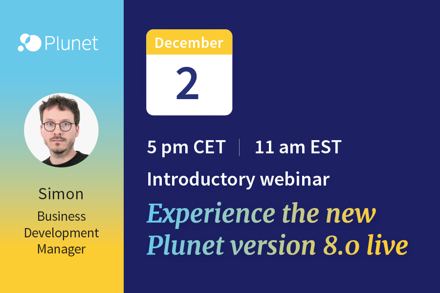 Plunet Version 8 Webinar Dec 2, 2020