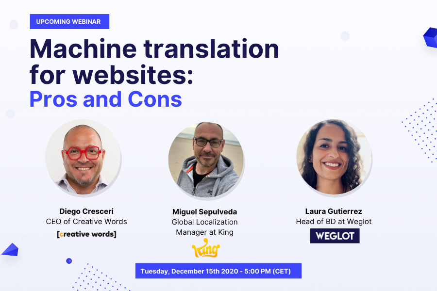 Weglot Machine Translation Webinar