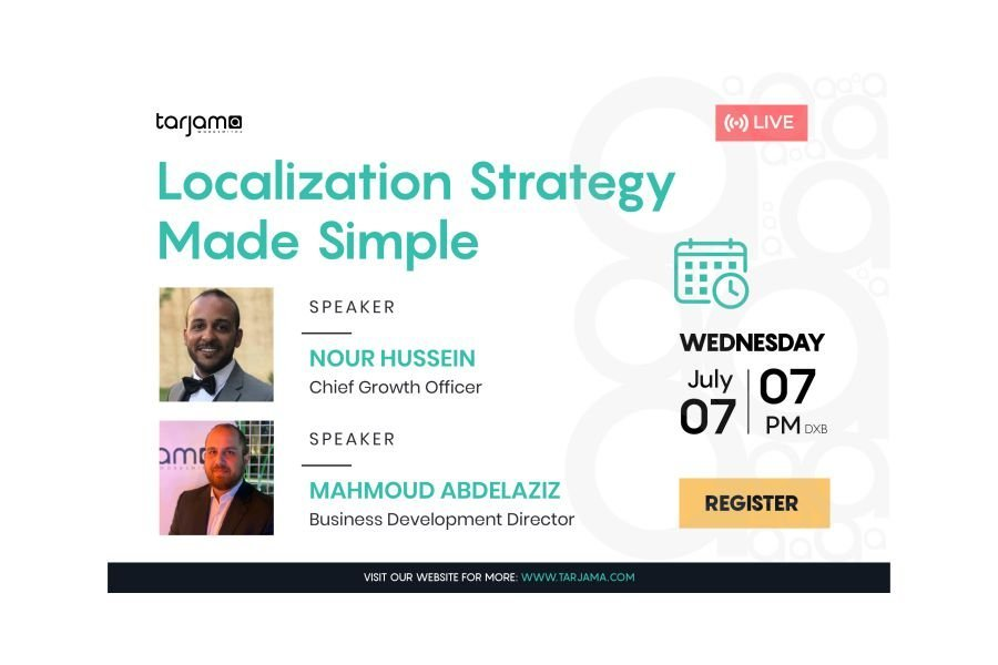 Tarjama Event Localization Strategy Made Simple