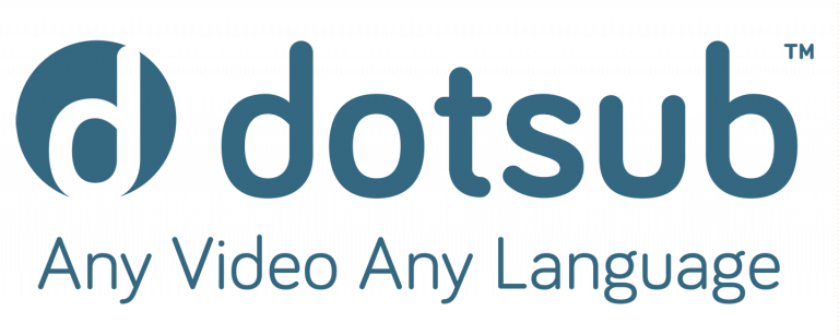 Logo of technology and service provider of captions and voiceovers Dotsub