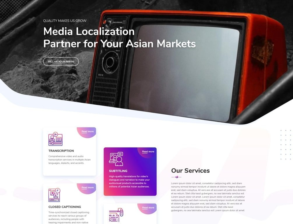 GTE Media offers Media Localization services