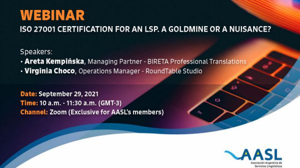 AASL ISO 27001 Certification Webinar