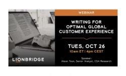 Lionbridge Writing for Optimal Global Customer Experience